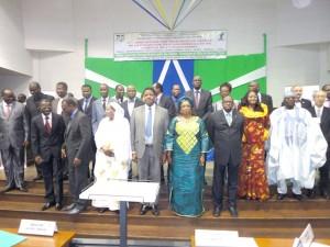 Photo de famille des ministres présents à cette rencontre