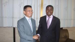 L'Ambassadeur Tao Weinguang et Martial Sounton