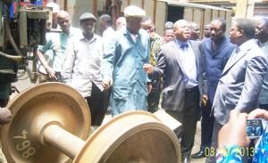 2En visite dans l'atelier central de l'Ocbn, le ministre Aké Natondé a rassuré les chemineaux