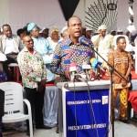 Le président Lehady Soglo hier, lors de son allocution