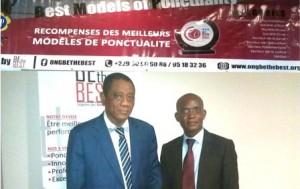 Abou Séîbou et le président de l'Ong Ninon Ahoudjinou